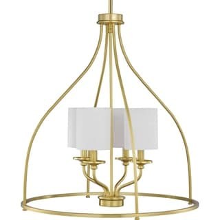 "Link to Bonita Collection Four-Light Satin brass Foyer Chandelier - 27.800"" x 25.000"" x 12.000"" Similar Items in Women's Shoes"