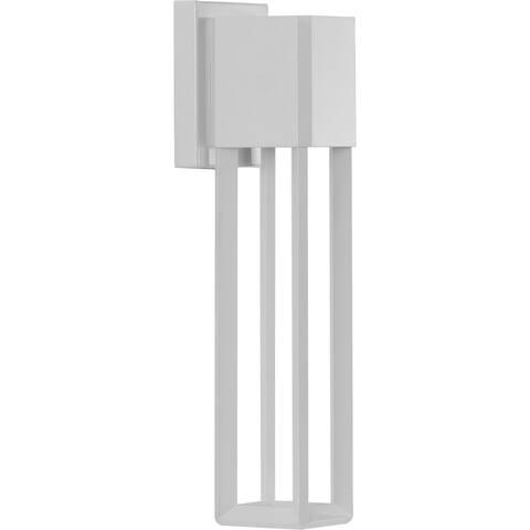 "Z-1090 LED Collection Satin White One-Light Medium Wall Lantern - 18.900"" x 6.690"" x 6.890"""