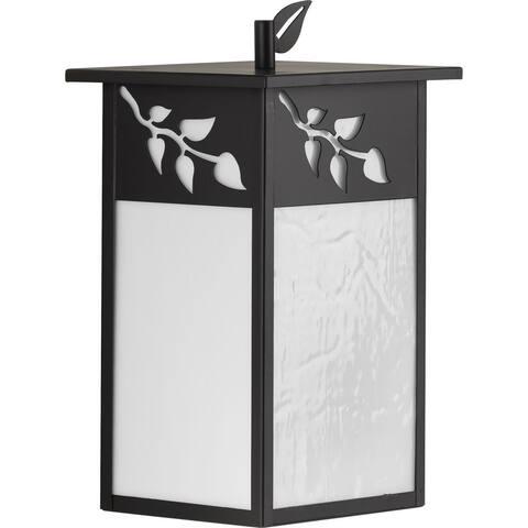 "Trellis Collection Antique Bronze One-Light Medium Wall Lantern - 15.000"" x 10.000"" x 9.500"""