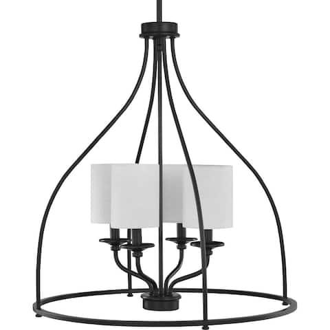 "Bonita Collection Four-Light Black Foyer Chandelier - 27.800"" x 25.000"" x 12.000"""