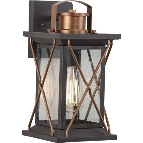 "Barlowe Collection Antique Bronze One-Light Small Wall Lantern - 14.370"" x 9.840"" x 9.060"""