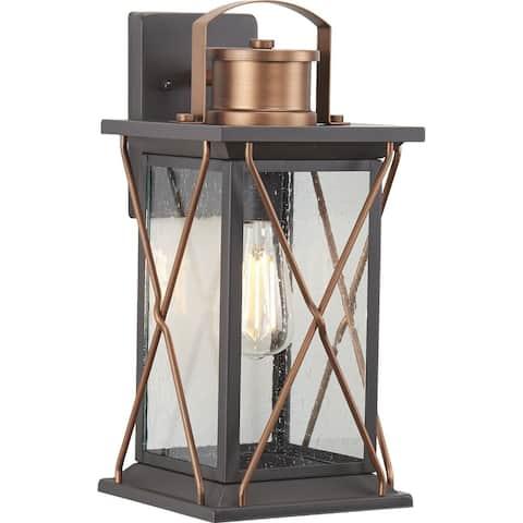 "Barlowe Collection Antique Bronze One-Light Medium Wall Lantern - 17.130"" x 10.630"" x 9.840"""