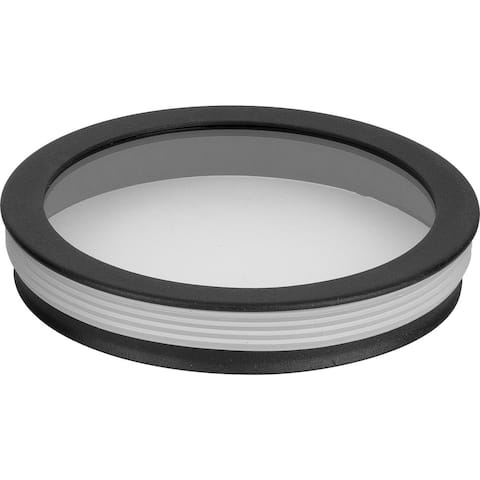 """Cylinder Lens Collection Black 5-Inch Round Cylinder Cover - 1.250"""" x 5.250"""" x 5.250"""""""