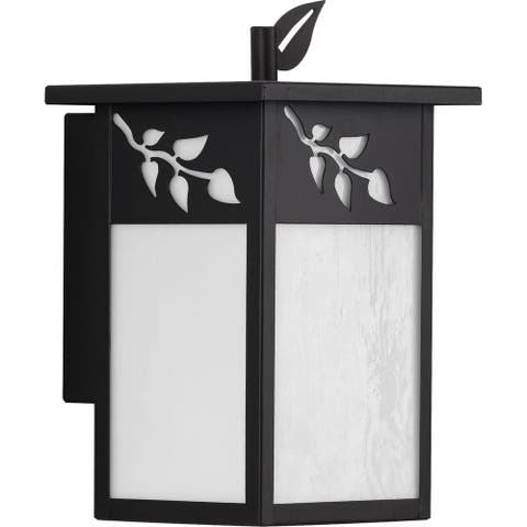 "Trellis Collection Antique Bronze One-Light Small Wall Lantern - 12.000"" x 8.500"" x 8.000"""