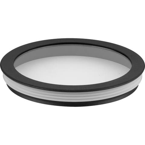 """Cylinder Lens Collection Black 6-Inch Round Cylinder Cover - 1.250"""" x 6.250"""" x 6.250"""""""