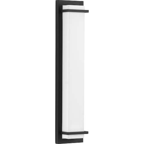 "Z-1080 LED Collection Black Two-Light Large LED Outdoor Sconce - 23.000"" x 5.000"" x 3.000"""