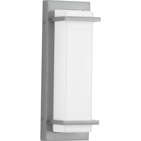 "Z-1080 LED Collection Metallic Gray One-Light Small LED Outdoor Sconce - 13.000"" x 5.000"" x 3.000"""