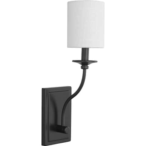 "Bonita Collection Black One-Light Wall Sconce - 14.170"" x 6.500"" x 8.270"""