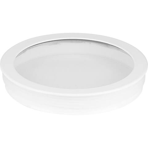 """Cylinder Lens Collection White 5-Inch Round Cylinder Cover - 1.250"""" x 5.250"""" x 5.250"""""""