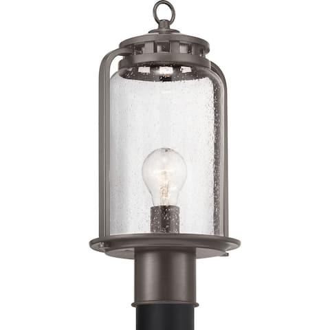 "Botta Collection Antique Bronze One-Light Post Lantern - 18.900"" x 16.730"" x 10.430"""