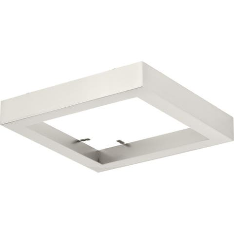 """Everlume Collection Brushed Nickel 7"""" Edgelit Square Trim Ring - 7.480"""" x 7.480"""" x 1.570"""""""