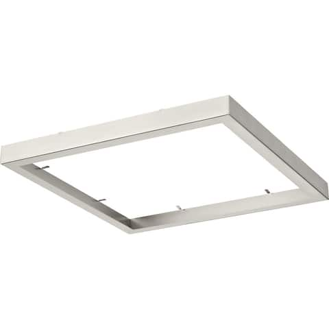 """Everlume Collection Brushed Nickel 14"""" Square Trim Ring - 14.410"""" x 14.410"""" x 1.570"""""""