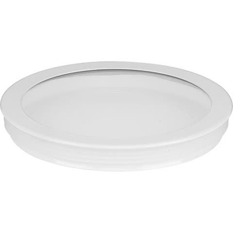"""Cylinder Lens Collection White 6-Inch Round Cylinder Cover - 1.250"""" x 6.250"""" x 6.250"""""""