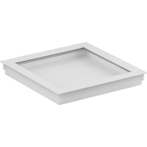 """Cylinder Lens Collection White 6-Inch Square Cylinder Cover - 1.240"""" x 6.250"""" x 6.250"""""""