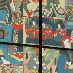 Black Kabuki Shoji Screen (China)