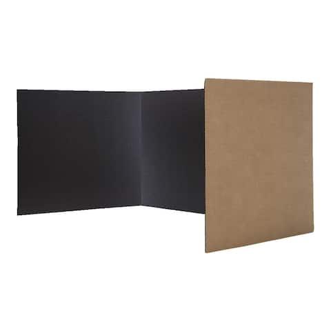 "Flipside® Corrugated Study Carrels, Black, 12"" x 48"", Pack of 24 - Black"