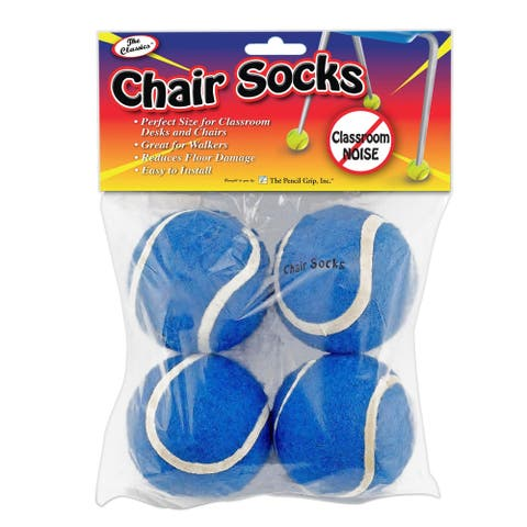 The Pencil Grip® Chair Socks, Blue, Pack of 144 - Blue