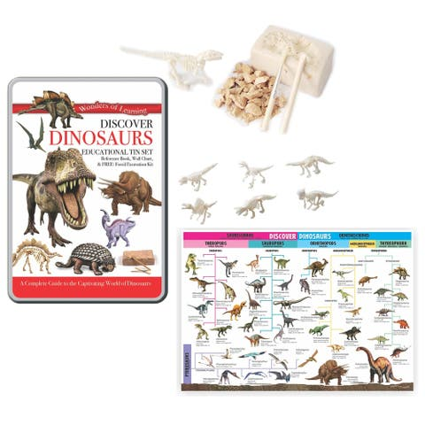 Wonders of Learning® Discover Dinosaurs, Educational Tin Set