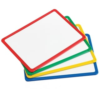 "Learning Advantage Magnetic Plastic Framed Whiteboards, 9.5"" x 13"", Set of 4"