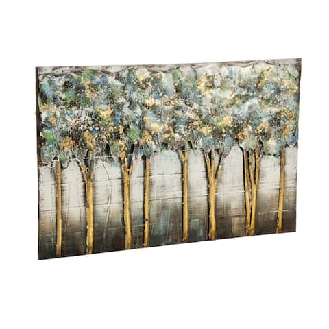 """24"""" x 35"""" Trees Handcrafted 3D Metal Wall Décor"""