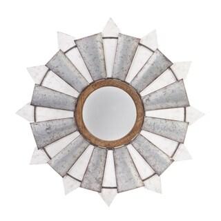 "32"" Windmill Wall Mirror w/ Metal and Wood Frame"