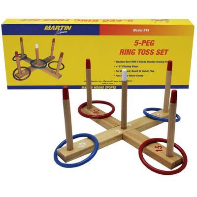 Martin Sports 5-Peg Ring Toss Set