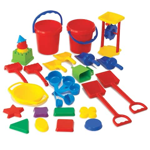 Learning Advantage® Sand Play Tool Set, 30 Pieces