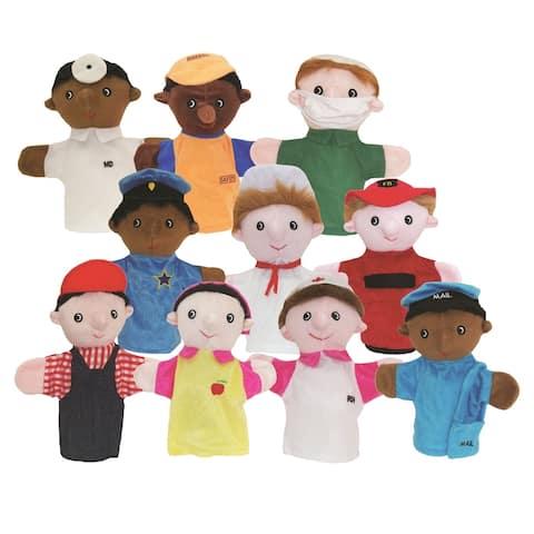 Get Ready Kids Community Helper Puppets, Set of 10