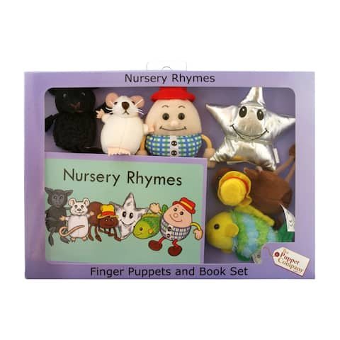 The Puppet Company Nursery Rhymes Finger Puppets and Book Set