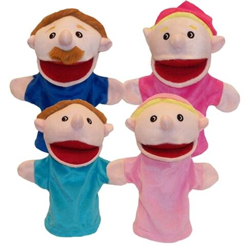 Get Ready Kids Caucasian Family Puppet Set