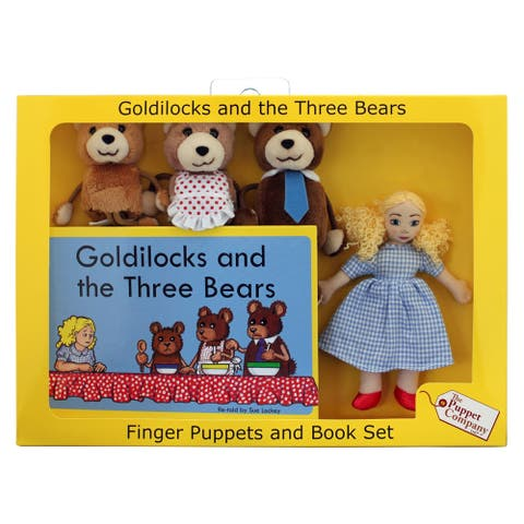 The Puppet Company Goldilocks Finger Puppets and Book Set