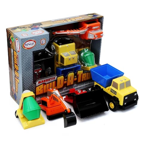 Popular Playthings Magnetic Build-a-Truck Construction
