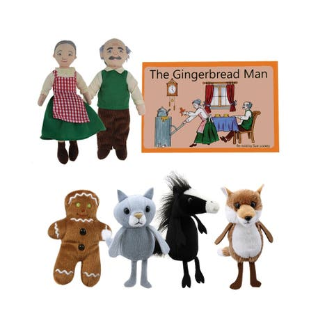 The Puppet Company The Gingerbread Boy Finger Puppets and Book Set