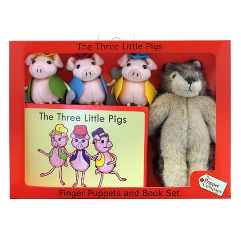 The Puppet Company The Three Little Pigs Finger Puppets and Book Set