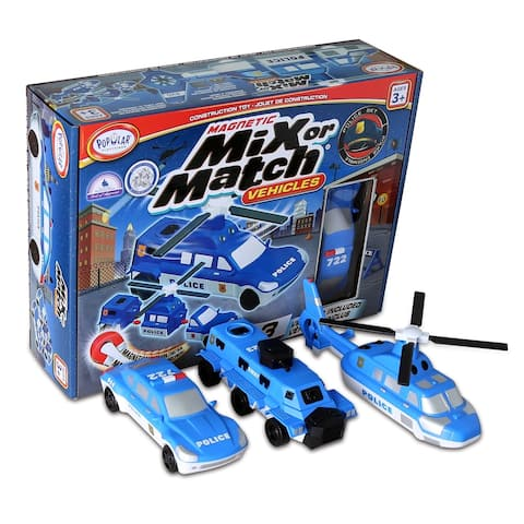 Popular Playthings Magnetic Mix or Match® Vehicles, Police