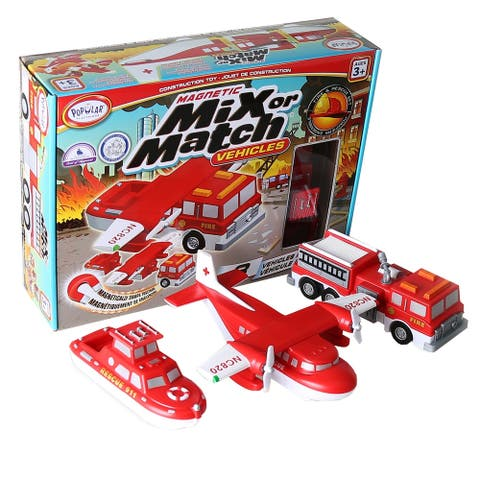 Popular Playthings Magnetic Mix or Match® Vehicles, Fire & Rescue