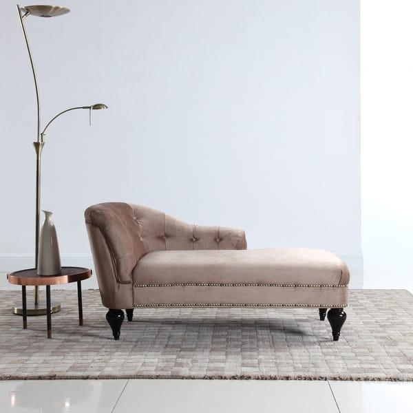 Velvet Chaise Lounge For Living Room