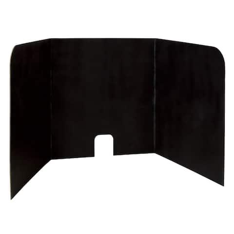 """Pacon® Computer Lab Privacy Board, Black, 22"""" x 22"""" x 20"""", 4 Boards - Black"""
