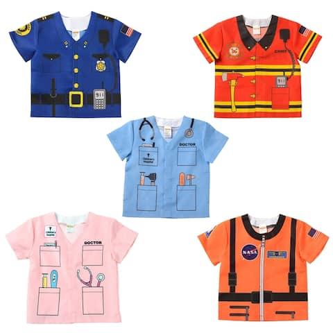 Aeromax® My 1st Career Gear 5 Piece Dress-Up Tops, Fits 18-36 Months