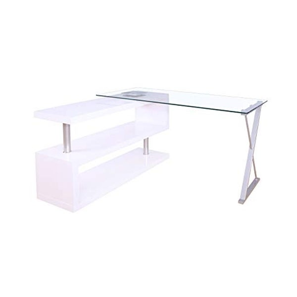 William's Home Furnishing Bronwen Writing Desk In White Finish