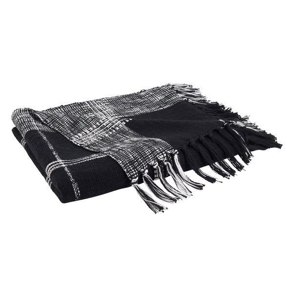 Plaid Design Cotton Throw. Opens flyout.