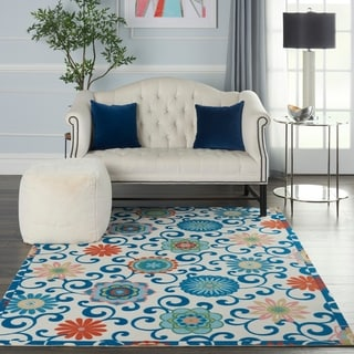 Link to Porch & Den Swank Floral Medallion Scrollwork Area Rug Similar Items in Rugs