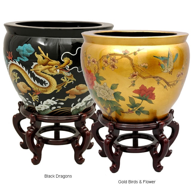 Lacquered Porcelain Fishbowl (China)