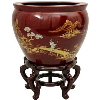 Handmade Lacquered Porcelain Fishbowl