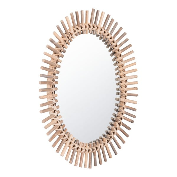 Sole Oval Mirror Brown