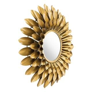 Sunflower Round Mirror Gold