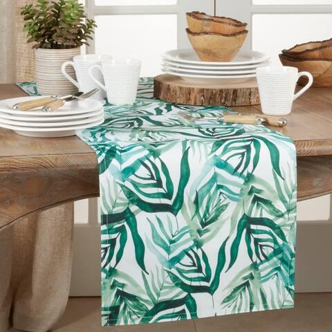 Long Table Runner with Rainforest Design