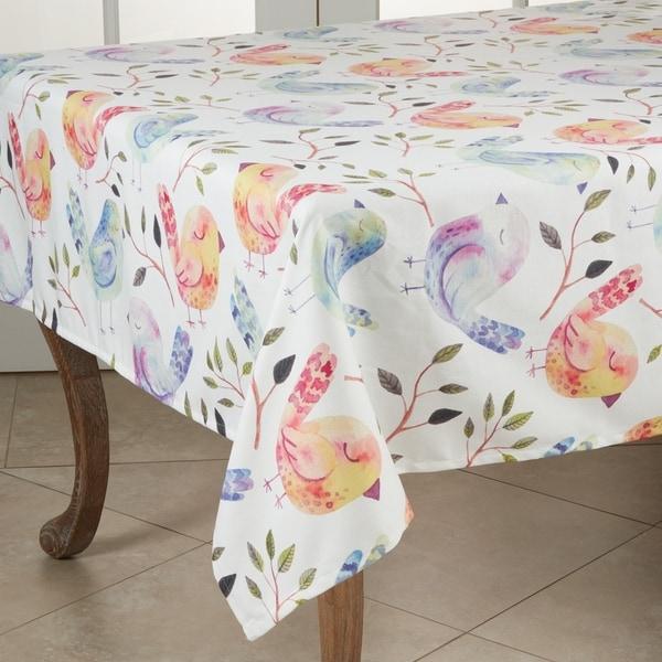 "Flock of Birds Design Tablecloth - 55"""