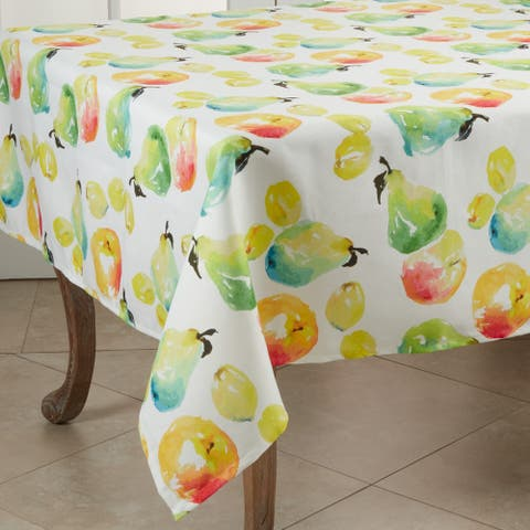 Table Topper with Pears and Apples Design - 55""