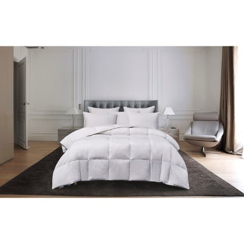 kathy ireland Light Warmth White Goose Feather and Down Fiber Comforter